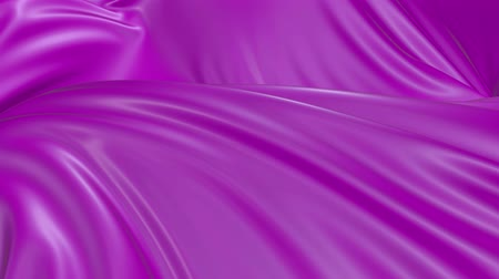 gordijn : 4k 3D animation of wavy violet cloth surface that forms ripples like in fluid surface or the folds like in tissue. Purple silky fabric forms folds in the air in slow motion. Animated texture. 50 Stockvideo