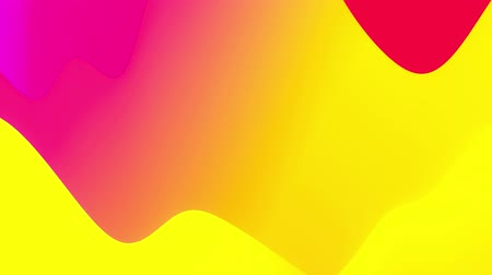 inner : 4k seamless loop with abstract fluid red yellow gradients, inner glow wavy surface. Beautiful color gradients as abstract liquid background, smooth animation. 3d in flat pleasant modern style