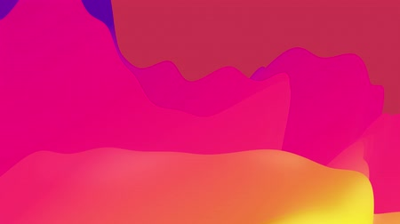 zaoblený : 4k seamless loop with abstract fluid rainbow gradients, inner glow wavy surface. Beautiful color gradients as abstract liquid background, smooth animation. 3d in flat pleasant modern style