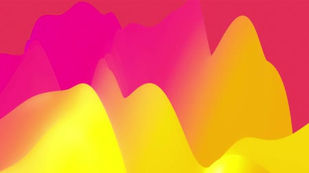 esplêndido : 4k seamless loop with abstract fluid rainbow gradients, inner glow wavy surface. Beautiful color gradients as abstract liquid background, smooth animation. 3d in flat pleasant modern style