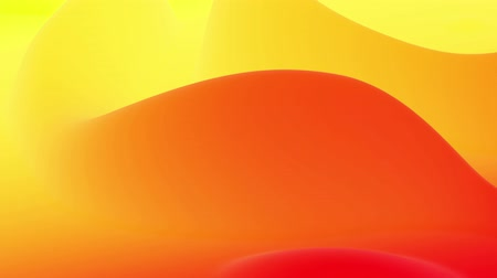 business style : 4k seamless loop, abstract fluid red yellow gradients, inner glow wavy surface. Beautiful warm color gradients as abstract liquid background, smooth animation. 3d in flat pleasant modern style. 11