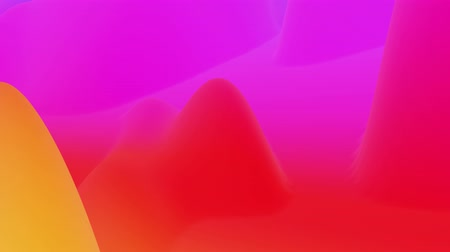 esplêndido : 4k seamless loop, abstract fluid red yellow gradients, inner glow wavy surface. Beautiful warm color gradients as abstract liquid background, smooth animation. 3d in flat pleasant modern style. 30