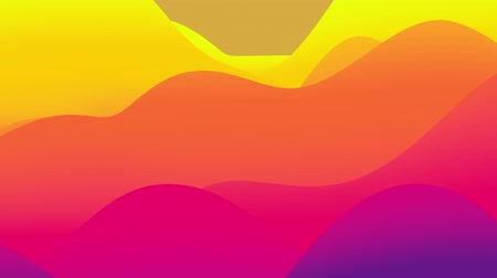 distorção : 4k seamless loop, abstract fluid red yellow gradients, inner glow wavy surface. Beautiful warm color gradients as abstract liquid background, smooth animation. 3d in flat pleasant modern style 58 Stock Footage