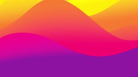 inner : 4k seamless loop, abstract fluid red yellow gradients, inner glow wavy surface. Beautiful warm color gradients as abstract liquid background, smooth animation. 3d in flat pleasant modern style 59 Stock Footage