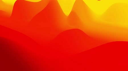zaoblený : 4k seamless loop, abstract fluid red yellow gradients, inner glow wavy surface. Beautiful warm color gradients as abstract liquid background, smooth animation. 3d in flat pleasant modern style 89 Dostupné videozáznamy