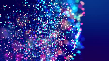 csillogás : fantastic festive abstract background of glitter magic multicolor particles fly or float in viscous liquid and glow, amazing shining bokeh in 4k. Luma matte as alpha channel. 9 Stock mozgókép
