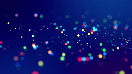 desfocado : fantastic festive abstract background of glitter magic multicolor particles fly or float in viscous liquid and glow, amazing shining bokeh in 4k. Luma matte as alpha channel. 41 Stock Footage