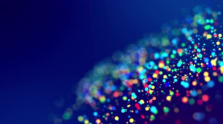 luminosidade : fantastic festive abstract background of glitter magic multicolor particles fly or float in viscous liquid and glow, amazing shining bokeh in 4k. Luma matte as alpha channel. 42 Vídeos