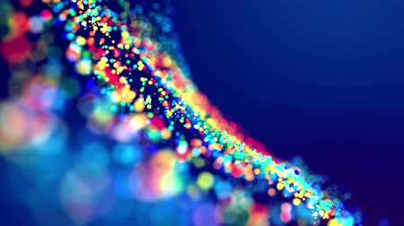 odstín : fantastic festive abstract background of glitter magic multicolor particles fly or float in viscous liquid and glow, amazing shining bokeh in 4k. Luma matte as alpha channel. 48