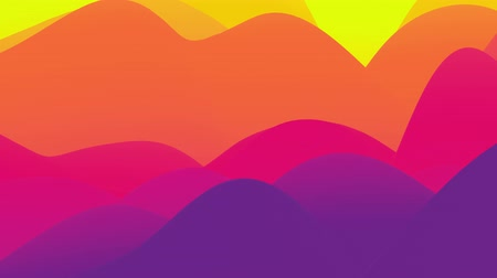 multi colorido : 4k seamless loop, abstract fluid red yellow gradients, inner glow wavy surface. Beautiful warm color gradients as abstract liquid background, smooth animation. 3d in flat pleasant modern style 63