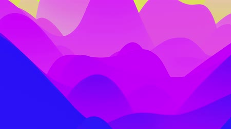 esplêndido : 4k seamless loop with abstract fluid fiolet gradients, inner glow wavy surface. Beautiful color gradients as abstract liquid background, smooth animation. 3d in flat pleasant modern style