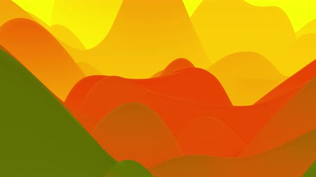 esplêndido : 4k seamless loop, abstract fluid red yellow gradients, inner glow wavy surface. Beautiful warm color gradients as abstract liquid background, smooth animation. 3d in flat pleasant modern style 79 Stock Footage