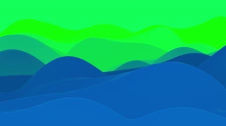 esplêndido : 4k seamless loop with abstract fluid blue green gradients, inner glow wavy surface. Beautiful color gradients as abstract liquid background, smooth animation. 3d in flat pleasant modern style