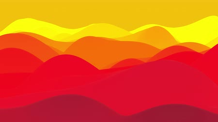plezant : 4k seamless loop, abstract fluid red yellow gradients, inner glow wavy surface. Beautiful warm color gradients as abstract liquid background, smooth animation. 3d in flat pleasant modern style 80