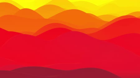 esplêndido : 4k seamless loop, abstract fluid red yellow gradients, inner glow wavy surface. Beautiful warm color gradients as abstract liquid background, smooth animation. 3d in flat pleasant modern style 84