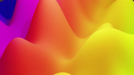 zaoblený : 4k seamless loop, abstract fluid red yellow gradients, inner glow wavy surface. Beautiful warm color gradients as abstract liquid background, smooth animation. 3d in flat pleasant modern style 126