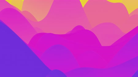 インナー : 4k seamless loop with abstract fluid fiolet gradients, inner glow wavy surface. Beautiful color gradients as abstract liquid background, smooth animation. 3d in flat pleasant modern style
