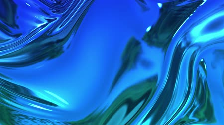 szövetek : abstract background of blue liquid metalic surface with smooth animation. 3D render of wavy cloth surface that forms ripples like in liquid metal surface or folds in tissue. 12 Stock mozgókép