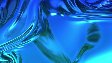 szövetek : abstract background of blue liquid metalic surface with smooth animation. 3D render of wavy cloth surface that forms ripples like in liquid metal surface or folds in tissue. 13