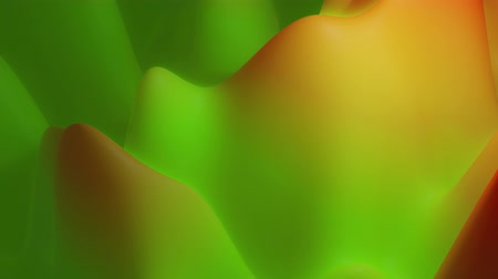 esplêndido : abstract liquid yellow green gradients, inner glow surface like landscape. 4k seamless loop animation. Beautiful color gradients as abstract liquid wavy background. 3 Stock Footage