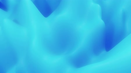 zaoblený : abstract liquid blue substance, inner glow surface like landscape. 4k seamless loop animation. Beautiful color gradients as abstract liquid wavy background. 1