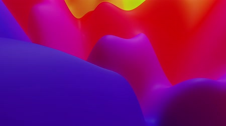 sahte : abstract liquid blue red yellow gradients, inner glow surface like landscape. 4k seamless loop animation. Beautiful color gradients as abstract liquid wavy background. 6