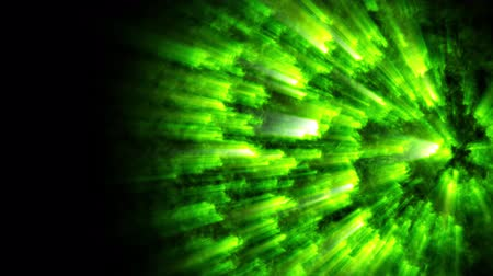 mystik : 4k abstract looped space background like a burning star from the surface of which rays emanate. High energy boil substance, magic ball or fireball. Sci-fi green theme with light rays 1