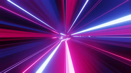 cyberpunk : 4k looped abstract high-tech tunnel with neon lights, camera flies through tunnel, purple neon lights flicker. Sci-fi background in the style of cyberpunk or high-tech future. Futuristic background 4