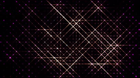 entire : 3d abstract 4k looped background with light of leds. Sparks slip between point leds, particles cover the entire plane of entire frame. Flash run on points. Luma matte as alpha channel. Warm light 4 Stock Footage