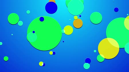 sobreposição : simple abstract 4k looped flat style background with circles that change their size, overlap each other, where they change colors, as if made of translucent material. Minimalist design. Luma matte Vídeos