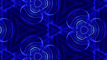 открывашка : Abstract theme of microworld of nanotechnology. 4k looped sci-fi 3d background with glow blue particles form lines, surfaces, complex symmetrical structures like in kaleidoscope. 25