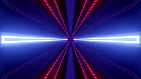 esplêndido : Sci-fi tunnel transformer with neon lights. 4k looped abstract high-tech tunnel. Camera flies through tunnel. Background in the style of cyberpunk or high-tech future. Blue purple 9 Stock Footage