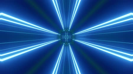 mystik : Sci-fi tunnel transformer with blue green neon lights. 4k looped abstract high-tech tunnel. Camera flies through changing tunnel. Background in the style of cyberpunk or high-tech future. 4