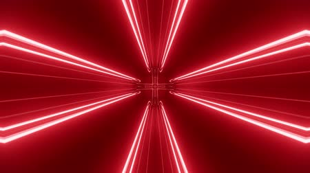cyberpunk : Sci-fi tunnel transformer with red orange neon lights. 4k looped abstract high-tech tunnel. Camera flies through changing tunnel. Background in the style of cyberpunk or high-tech future. 7 Stock Footage