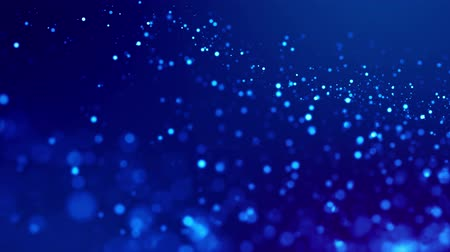 brilhando : Magic blue glowing particles flow in viscous liquid and bright glisten. Science fiction. 4k 3d sci-fi background with glittering particles, depth of field and bokeh. Luma matte as alpha channel. 98