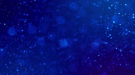 ünnepélyes : Magic blue glowing particles flow in viscous liquid and bright glisten. Science fiction. 4k 3d sci-fi background with glittering particles, depth of field and bokeh. Luma matte as alpha channel 73