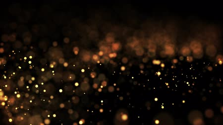 дорогой : gold glowing particles flow in viscous liquid and bright glisten. Science fiction. 4k 3d sci-fi background with glittering particles, depth of field and bokeh. Luma matte as alpha channel.