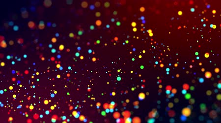 hvězdný : glitter magic multicolored particles fly and glow in viscous liquid with amazing shining bokeh for festive background in 4k. Close-up shot with luma matte as alpha channel. 15