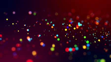 garlands : glitter magic multicolored particles fly and glow in viscous liquid with amazing shining bokeh for festive background in 4k. Close-up shot with luma matte as alpha channel. 60 Stock Footage