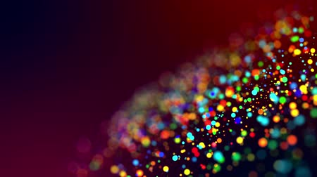 светящийся : glitter magic multicolored particles fly and glow in viscous liquid with amazing shining bokeh for festive background in 4k. Close-up shot with luma matte as alpha channel. 61 Стоковые видеозаписи