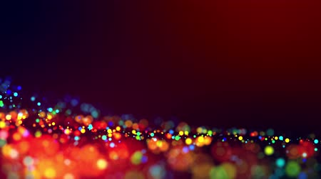 светящийся : glitter magic multicolored particles fly and glow in viscous liquid with amazing shining bokeh for festive background in 4k. Close-up shot with luma matte as alpha channel. 63