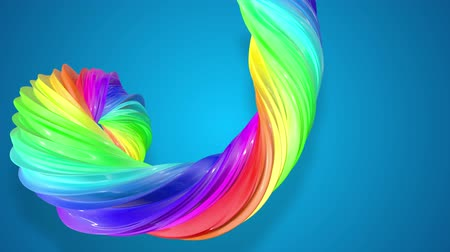 lesbijki : abstract background with rainbow color stripes that moving in a spiral and shiny on blue background in 4k. 3d seamless looped animation. Use luma matte as alpha chanel to cut out rainbow structure.