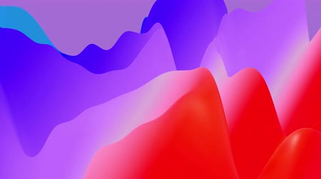 morph : 4k abstract looped fantastic background, liquid gradient of paint with internal glow forms hills or peaks that change smoothly in the cycle. Beautiful red blue color transitions. Stock Footage