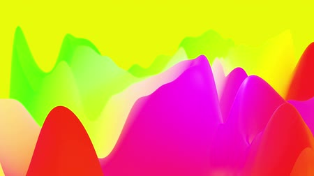 morph : 4k abstract looped fantastic background, liquid gradient of paint with internal glow forms hills or peaks that change smoothly in the cycle. Beautiful rainbow color transitions. Stock Footage