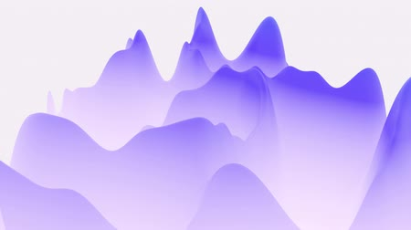 irreal : 4k abstract looped fantastic background, liquid gradient of paint with internal glow forms hills or peaks that change smoothly in the cycle. Beautiful blue color transitions. 1 Stock Footage