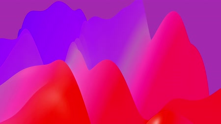 morph : 4k abstract looped fantastic background, liquid gradient of paint with internal glow forms hills or peaks that change smoothly in the cycle. Beautiful red blue color transitions. 6