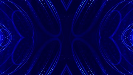 húr : 4k looped sci-fi 3d abstract background. Glow blue particles form lines, symmetrical structures like in microworld or cosmic space. For holiday presentations, ceremonies as vj loop motion design 20