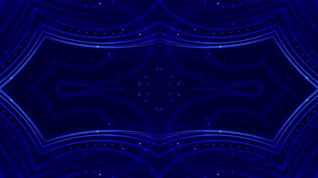 húr : 4k looped sci-fi 3d abstract background. Glow blue particles form lines, symmetrical structures like in microworld or cosmic space. For holiday presentations, ceremonies as vj loop motion design 21