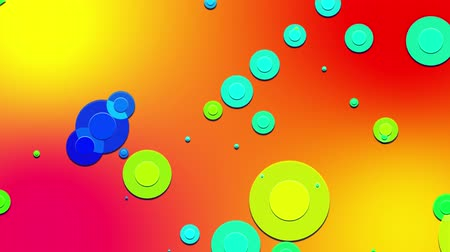 sakk : simple abstract 4k looped flat style background with circles change their size, overlap each other, red yellow orange gradient background. Minimalist design. Luma matte as alpha channel 7