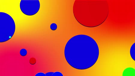 sobreposição : simple abstract 4k looped flat style background with circles change their size, overlap each other, red yellow orange gradient background. Minimalist design. Luma matte as alpha channel 4